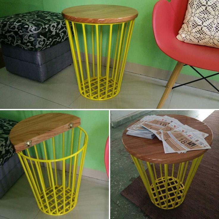 Meja multifungsi dapat dijadikan tempat penyimpanan  Bahan meja kayu mahoni…