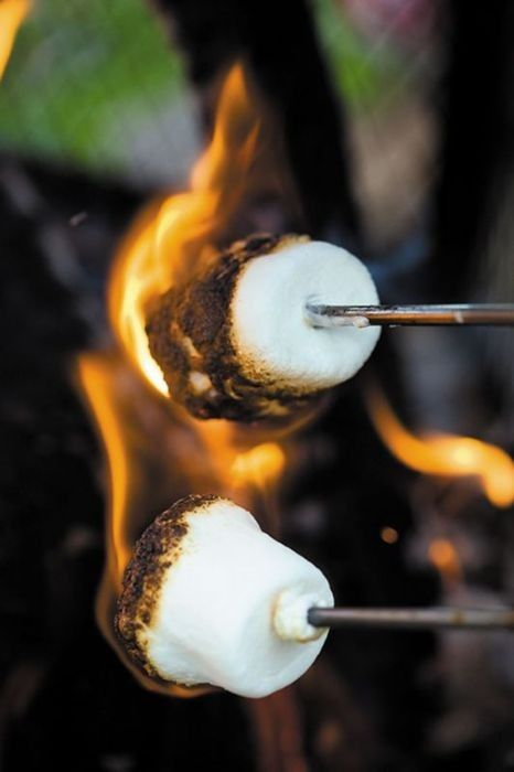 My absolute favorite part of summer... roasting marshmallows with friends on summer nights. ( And playing mafia over the fire )