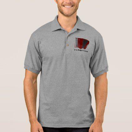 POLKA MUSIC Fan Accordian Polo Shirt - diy cyo personalize design idea new special custom