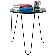 Target Round Side Table with Hair Pin Legs - Black $25