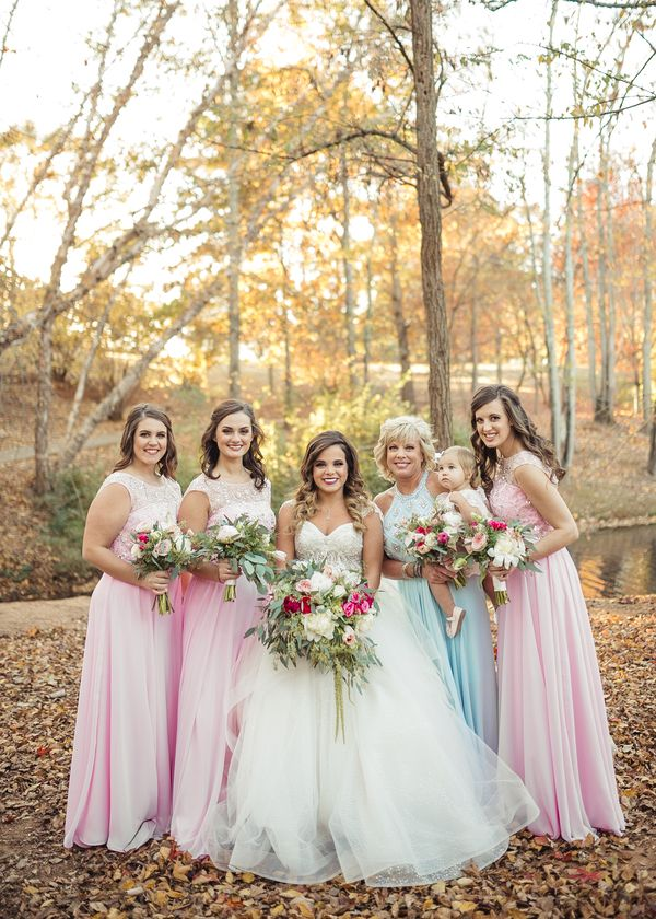 A Pretty Pink Southern Wedding With Groom Groomsmen In Slate Blue