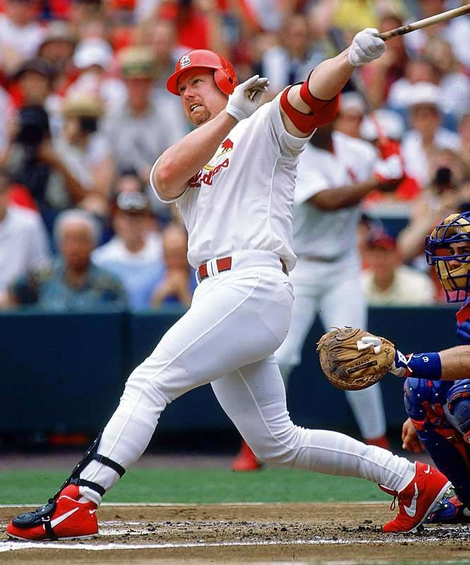 This Day In MLB History: 2000 - Mark McGwire (St. Louis Cardinals) passed Mickey Mantle on the home run career list. He ended the game with 539. keepinitrealsports.tumblr.com keepinitrealsports.wordpress.com