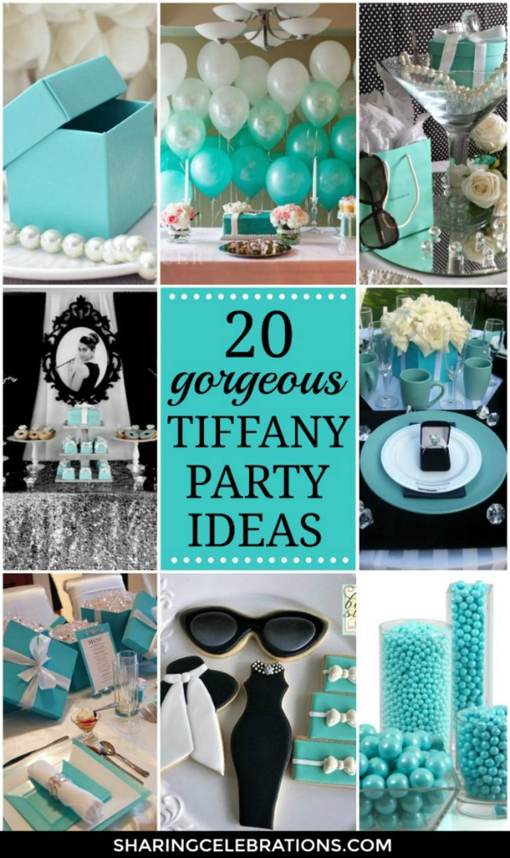 20 Gorgeous Tiffany Party Ideas