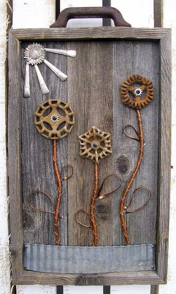 Water Faucet Handle Flower Wall Hanging  Large by RusticSpoonful