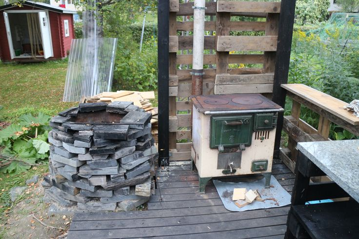 firepit+ woodburning stove
