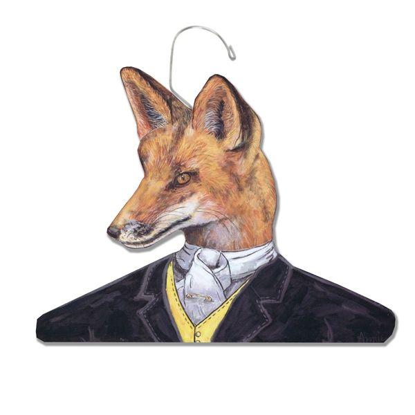 Fancy Fox animal hanger - hardtofind.