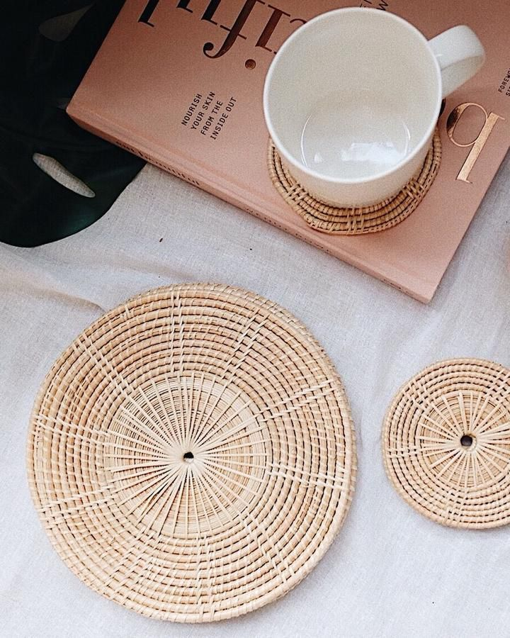 Ivy Rattan Woven Placemat Set Of 4 Placemats Woven Placemats Table Settings