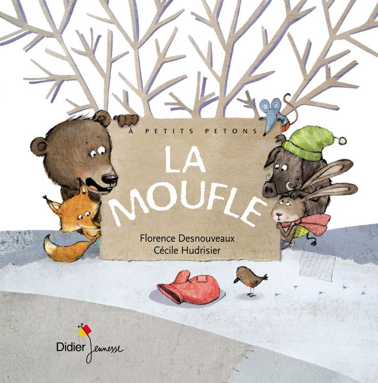couverture de la Moufle + images de l'album sur le site de illustratrice Cécile Hudrisier