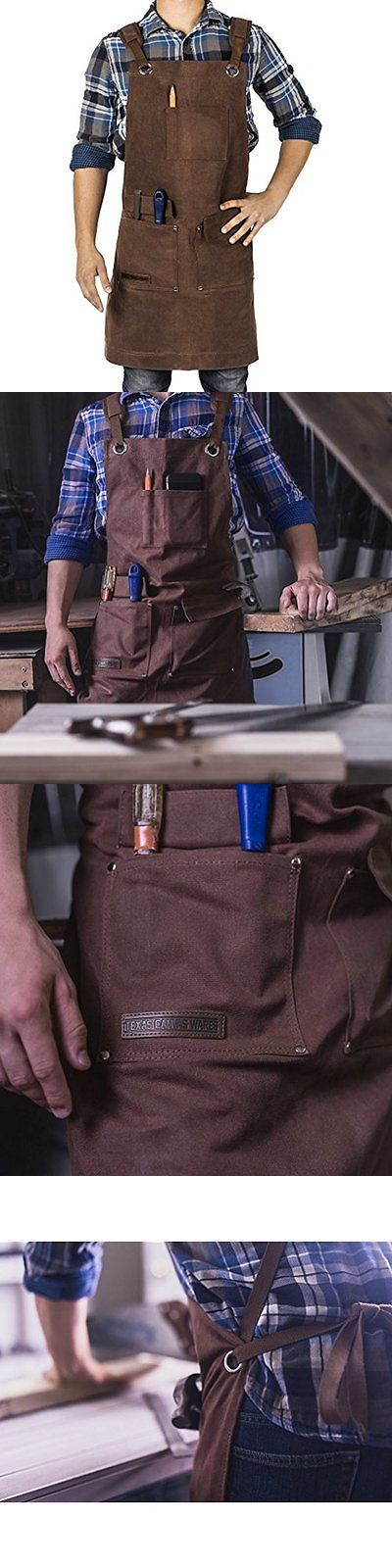 Aprons 175628: Waxed Canvas Heavy Duty Shop Apron With Pockets Adjustable Up To Xxl For Men And -> BUY IT NOW ONLY: $50.59 on eBay!