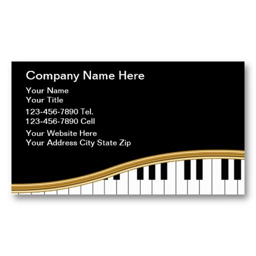 20 best images about piano teacher business cards on for Music business card template