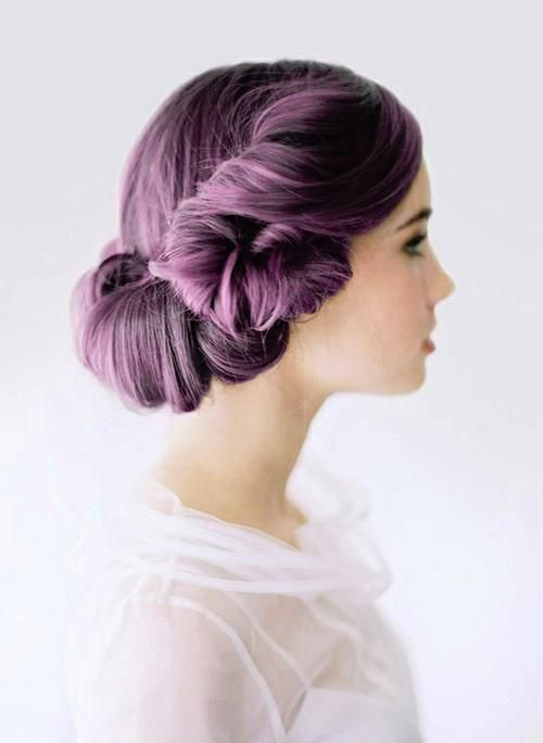 purple updo
