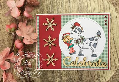 """ONECRAZYSTAMPER.COM: Celebrate! by DT Lori using High Hopes Stamps """"Cow Kisses"""""""