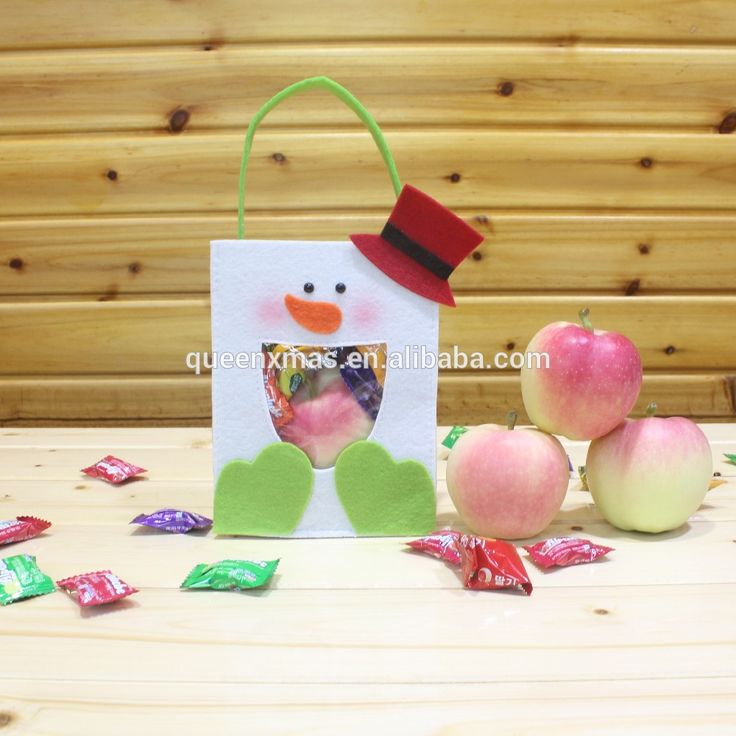 Source New Arrival Felt Handmade christmas gift bags in bulk on m.alibaba.com