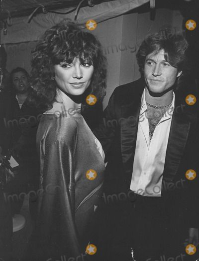 Victoria Principal and Andy Gibb