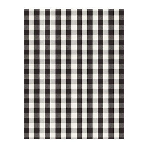 BERTA RUTA Fabric - big check/black - IKEA $8.99/yd Slipcover my chair or bench? Curtains?