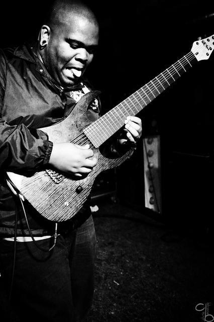 Joshua Travis, lead guitarist of The Tony Danza Tapdance Extravaganza. Shredding it up!