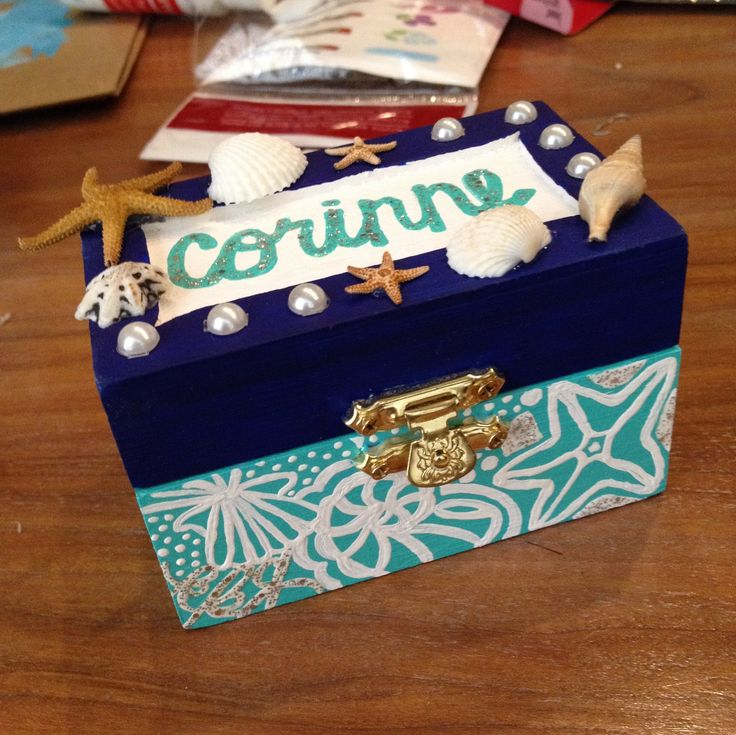 Another pin box I made for my grand little, inspired by her love for the ocean! | sorority | Kappa Kappa Gamma | Kappa | Lilly Pulitzer | TSM | badge | key | big | little |
