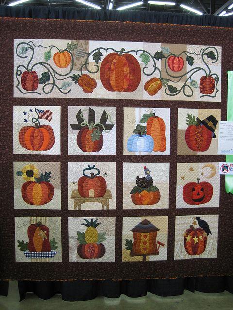 192 best pumpkin quilts images on Pinterest | Board, Crafts and Fall : pumpkin quilt pattern - Adamdwight.com
