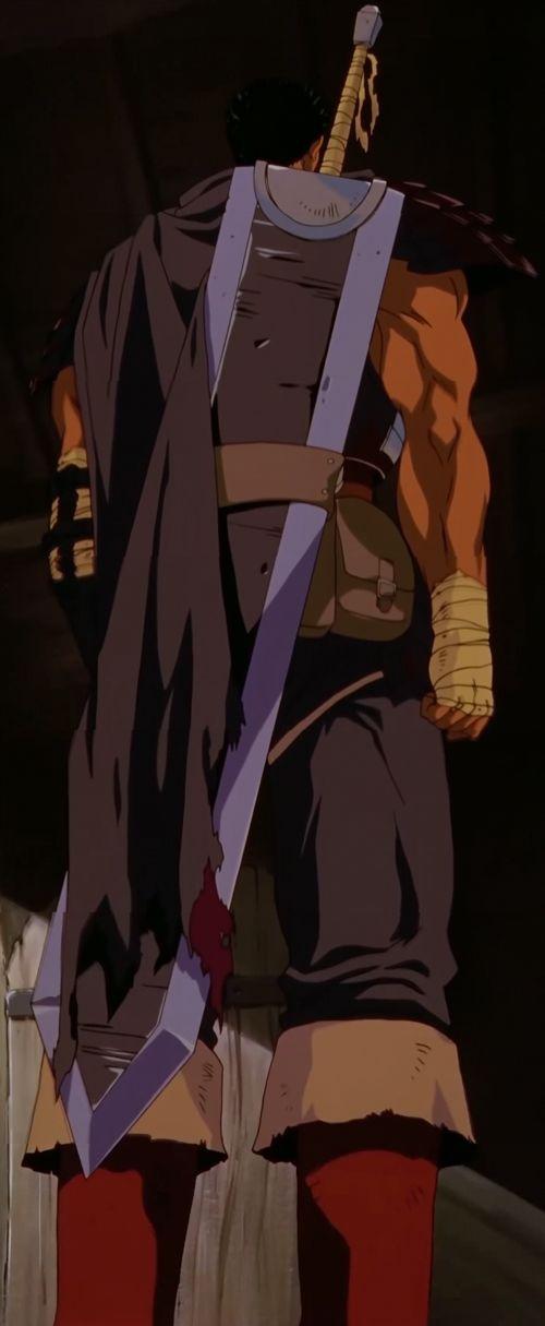 Berserk Anime (1997-1998) - Guts with Dragonslayer