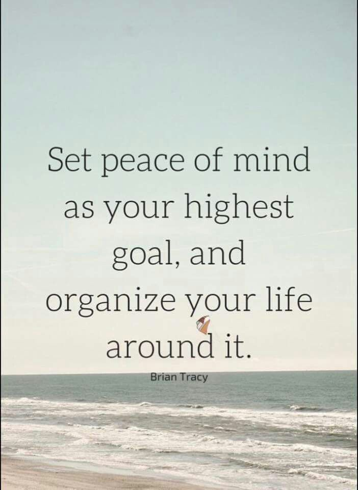 Elegant Motivational Quotes: Set Peace Of Mind As Your Highest Goal, And Organize  Youru2026