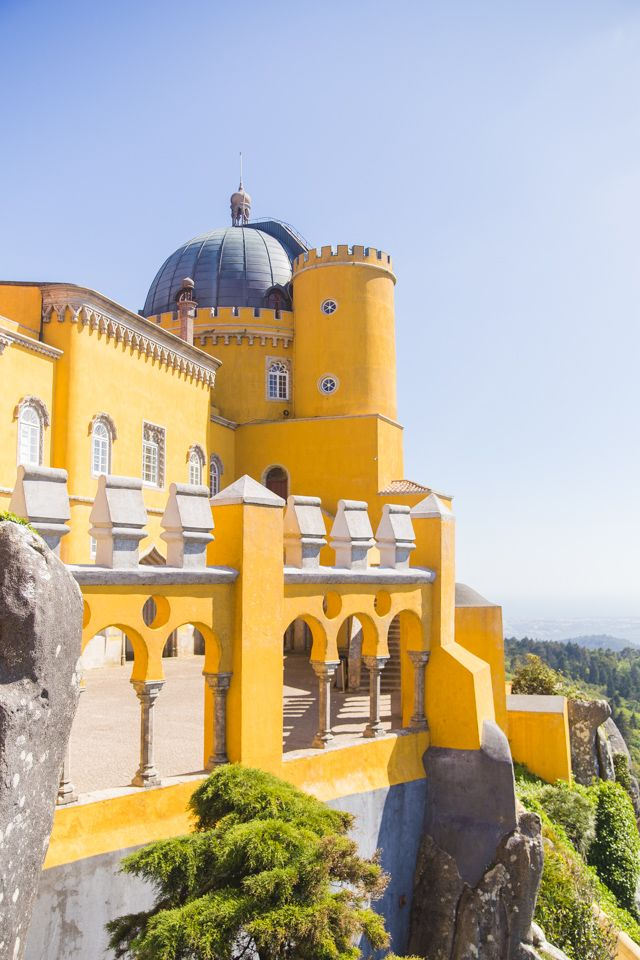 Colouful Pena Palace in Sintra, Portugal