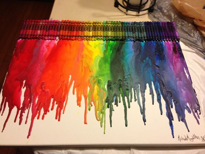make a melted crayon canvas crayon canvas crayons and