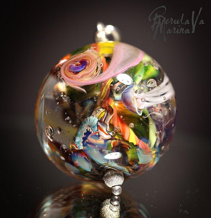 """Купить Кулон """"Три медузы"""" - Марина Берулава, авторский лэмпворк, авторские украшения, кулон лэмпворк"""