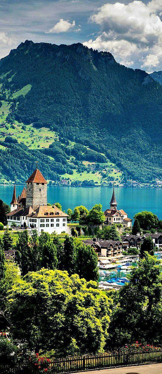 Lake Thun, Switzerland #Switzerland #travel