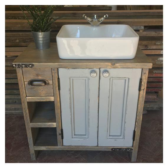 Edinburgh Painted Wooden Bathroom Cabinet Double Vanity Etsy Wooden Bathroom Cabinets Vanity Pallet Vanity