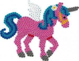 The Hama Beads Pegasus Fantasy Horse Pegboard. Perfect for flying horses, unicorns and general magical delight.