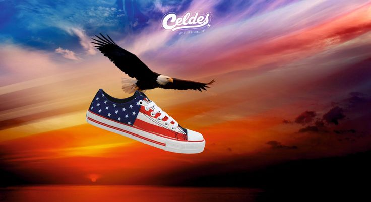 Open your wings and fly to America! Take yours at: http://celdes.com/en/all/394-us-flag.html #exploreceldes #exploretheworld #usa