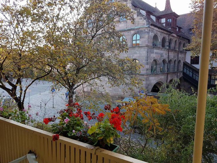 Great Wunderbarer Ausblick aus einem Balkon in N rnberg Balkon balcony N rnberg