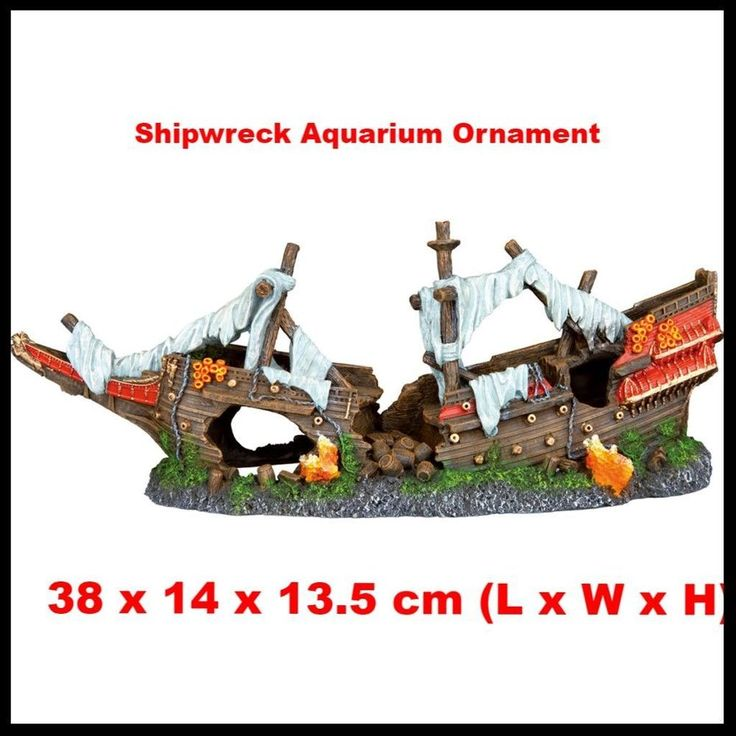 Fish Tank Shipwreck Decoration Aquarium Ornament Resin Fish Cave Decor Tank