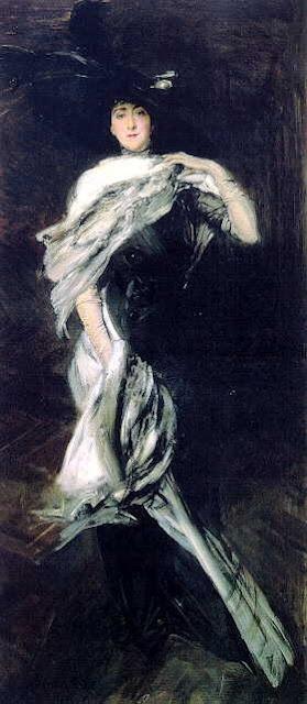 """Giovanni Boldini (Italian, 1842-1931) """"Ritratto di Edith Vanderbilt"""" Biltmore House in Asheville, NC."""