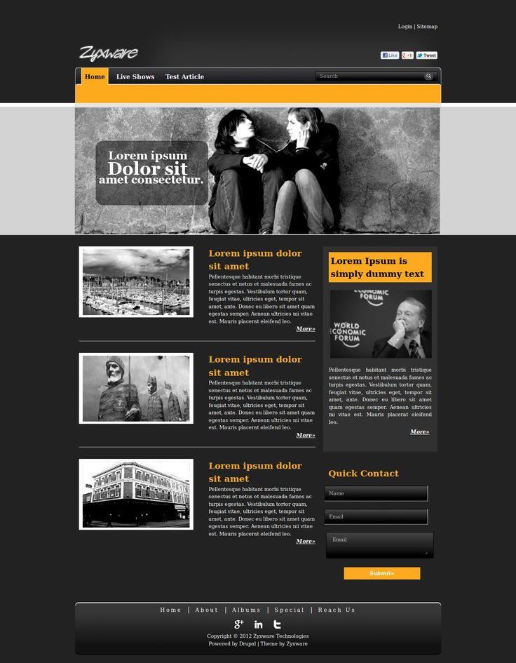 Black Blog home page