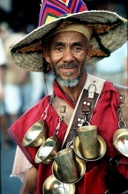 His beautiful hat. Morocco