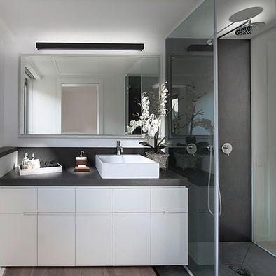 Small Bathroom grey white