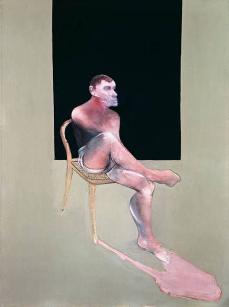 Francis Bacon - Portrait of John Edwards, 1988. Oil on canvas