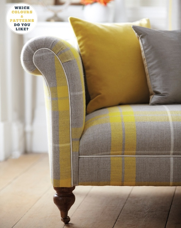 yellow and grey check.