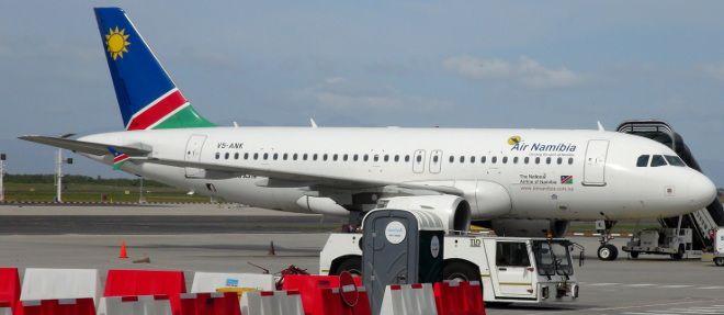 Air Namibia plane at Cape Town International Airport