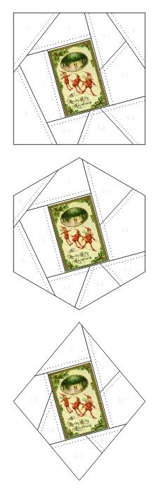 Really Jolly Christmas crazy quilt block patterns posted on Janet Stauffacher's Nostalgic NeedleART blog in 2012.