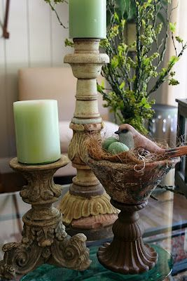 Decorating with Dodi: Spring decorating - Home Decor inspiration & bird themed vintage collectibles from www.rubylane.com @rubylanecom