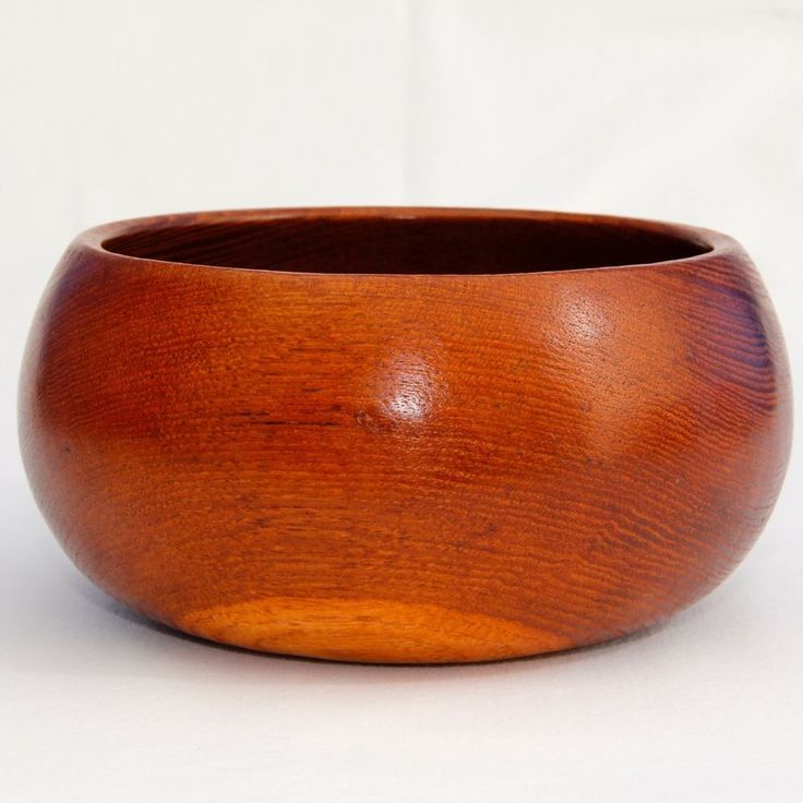 Teak Bowl Solid Wood Mid Century Modern Danish Style 5¾  Dia ♕ Excellent Vintage