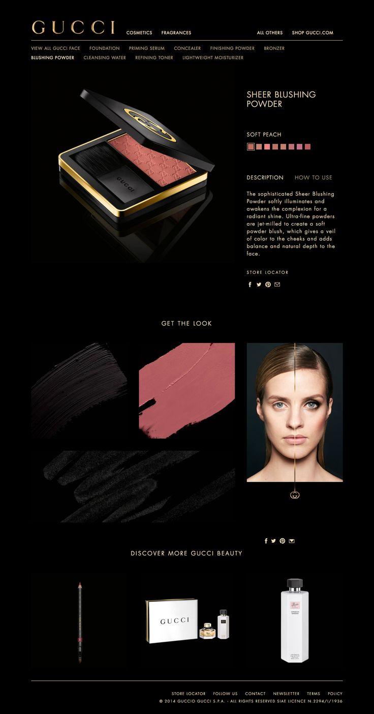 gucci.com beauty & cosmetics web design