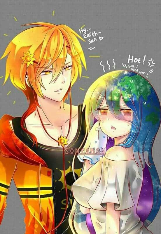 sun kun earth chan earthchan earth anime anime art