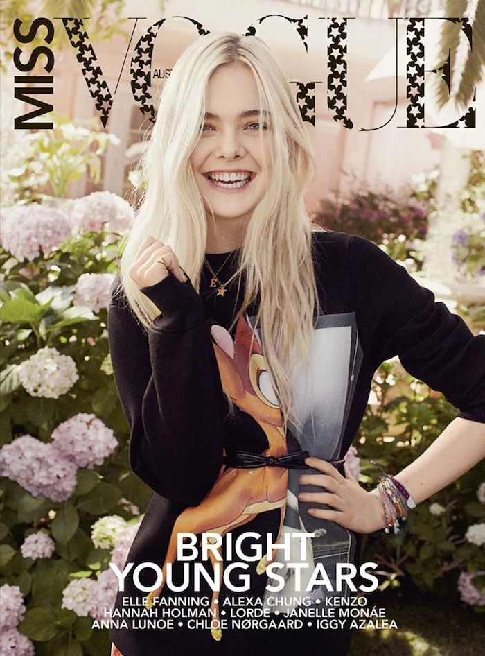 COVER  Elle Fanning Covers Miss Vogue Australia Michelle Obamas Tracy Reese Dress Hasnt So