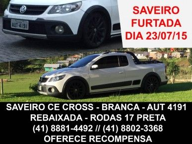 VW – VolksWagen Saveiro CROSS 1.6 Mi Total Flex 8V CE 2012 Gasolina Curitiba PR | Roubados Brasil