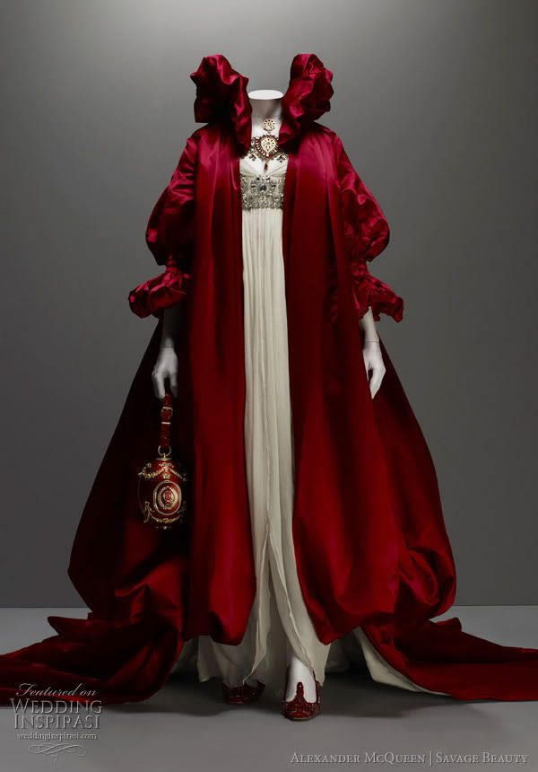 Alexander McQueen -- Looks like a Little Red Riding Hood dress! Love it! <3