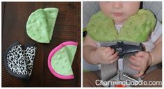 Free Pattern: Baby Car Seat Strap Covers | by Charming Doodle/ old shoulder pads