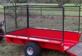 ATV trailer with mesh extensions. For more info: http://www.fresh-group.com/trailers-trolleys-and-carts.html